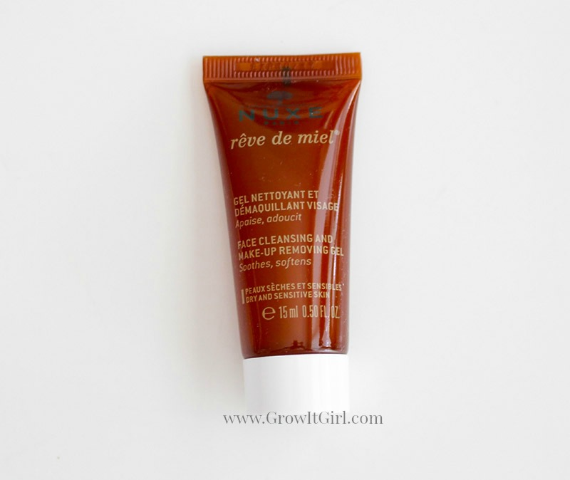 An Ipsy subscription exclusive NUXEReve de Miel Facial Cleansing and MakeUp Removing Gel