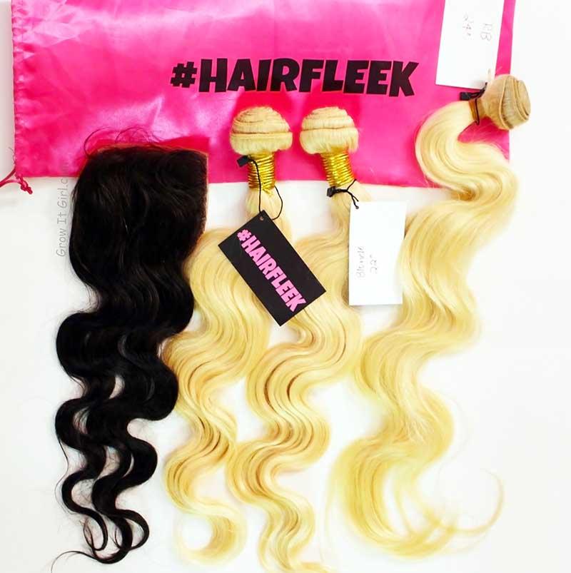 #HAIRFLEEK Brazilian Body Wave Hair Bundles and Closure