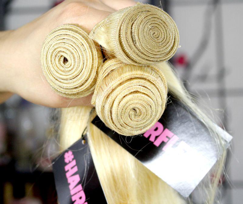 Hairfleek Brazilian Body Wave in Russian Blonde Hair Wefts