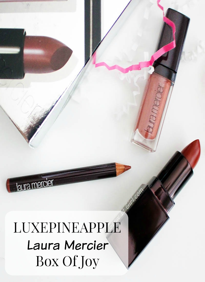 Luxepineapple Box Of Joy Laura Mercier Laura's Secret Lip Trio
