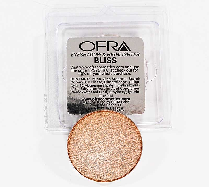 OFRA Bliss Eyeshadow and Highlighter July Ipsy Bag