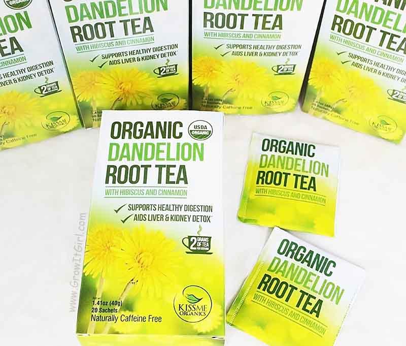 Organic Dandelion Root Tea with Hibiscus & Cinnamon Kiss Me Organics