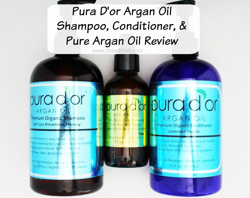Pura D'or Shampoo Conditioner and Argan Oil