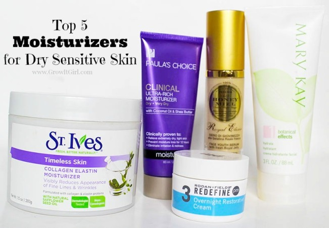 Top 5 Dry Sensitive Skin Moisturizers