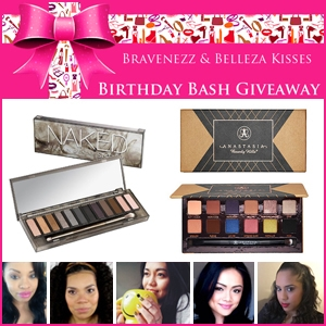 Birthday Bash Grand Prize Naked Smokey Palette and Anastasia  World Couture Palette