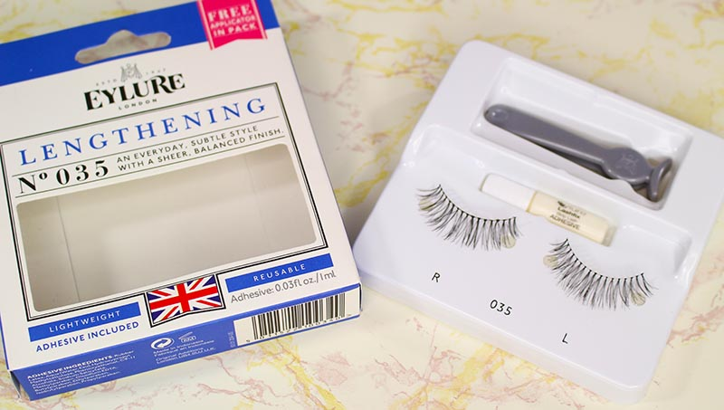Eylure Lengthening Lashes from my lashes try-on. This pack comes with glue and an applicator. www.growitgirl.com