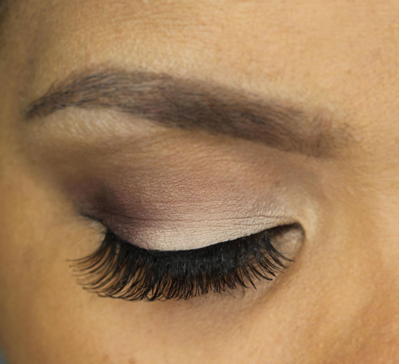 A look at the Eylure Volume lashes with my eyes closed. www.growitgirl.com