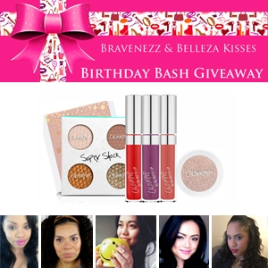 Braveness and Belleza Kisses Birthday Bash Giveaway Colour Pop Lipstick Prize