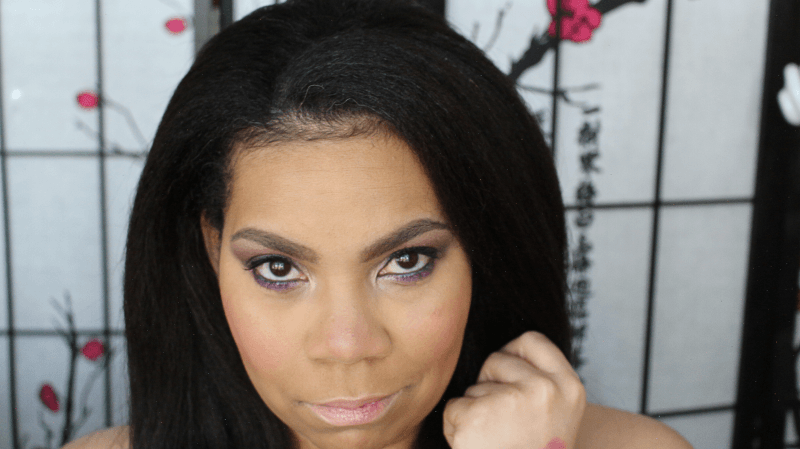 A makeup look created using the Luxepinapple Work It Box