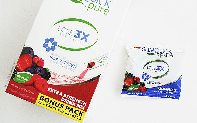 My Slimquick Pure Drink Mix and Gummies review. A look at my results after two weeks using the drink mix packets. See my weight loss and opinions www.growitgirl.com