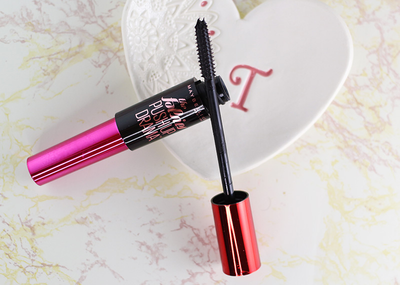 A close up of the Maybelline The Falsies Push Up Drama Mascara that I used to create my fall date night makeup look. www.growitgirl.com