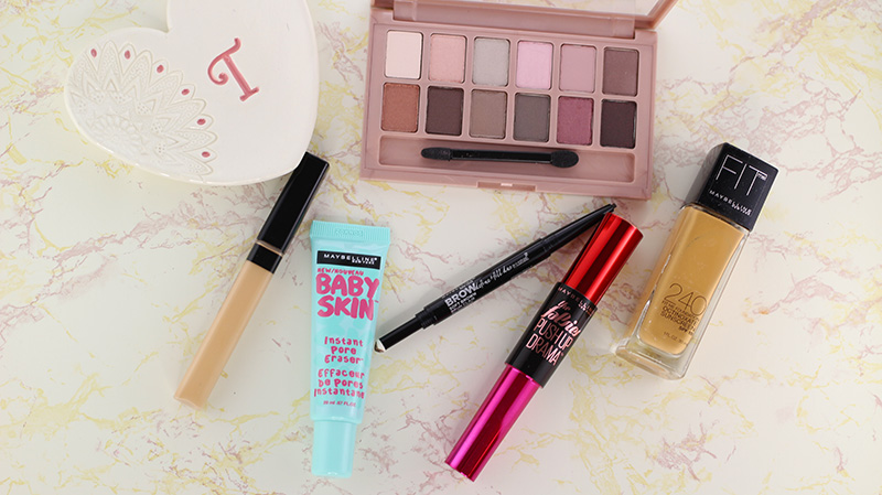 All of the Maybelline products used to create this fall date night makeup look. www.growitgirl.com