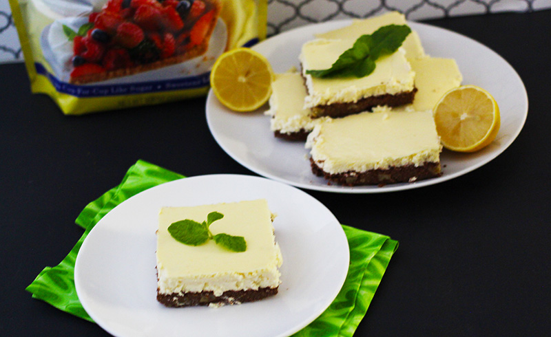 Lemon Brownie Cheesecake Square