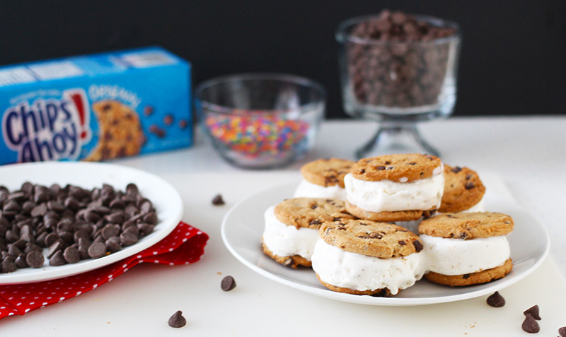 Finished Ice Cream Sandwiches for Chocolate Chip Ice Cream Sandwich