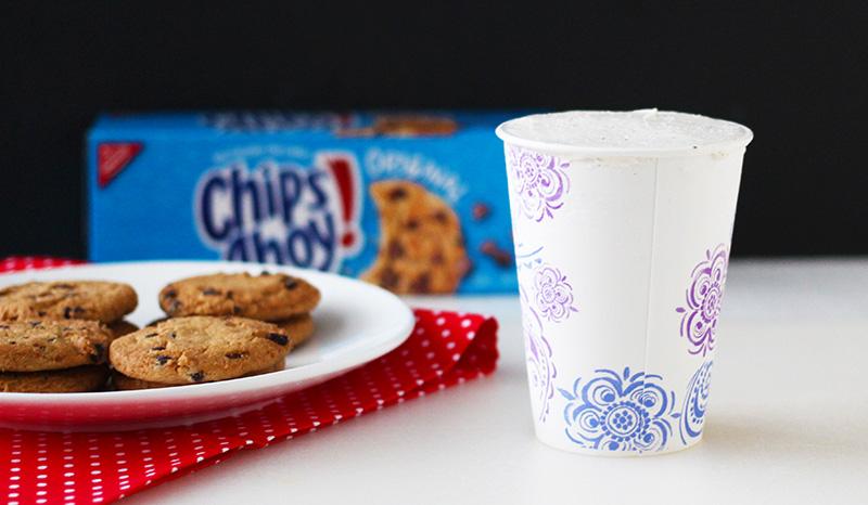 Ice Cream Frozen In Cups Chocolate Chip Ice Cream Sandwich