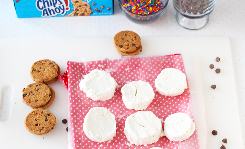 Ice Cream Rings for Chocolate Chip Ice Cream Sandwiches