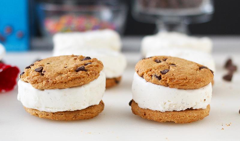 Ice Cream Sandwiches for Chocolate Chip Ice Cream Sandwiches