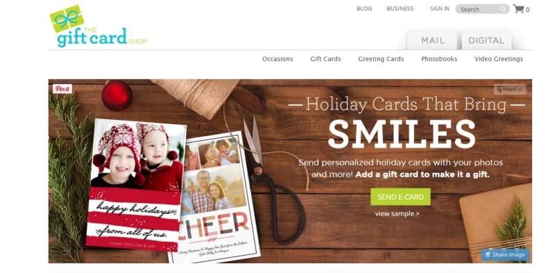 thegiftcardshop.com Holiday Cards That Bring Smiles