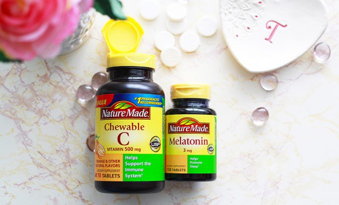 Nature Made Vitamin C and Nature Made Melatonin. Two supplements I Take For Healthy Hair and Overall Health. www.growitgirl.com