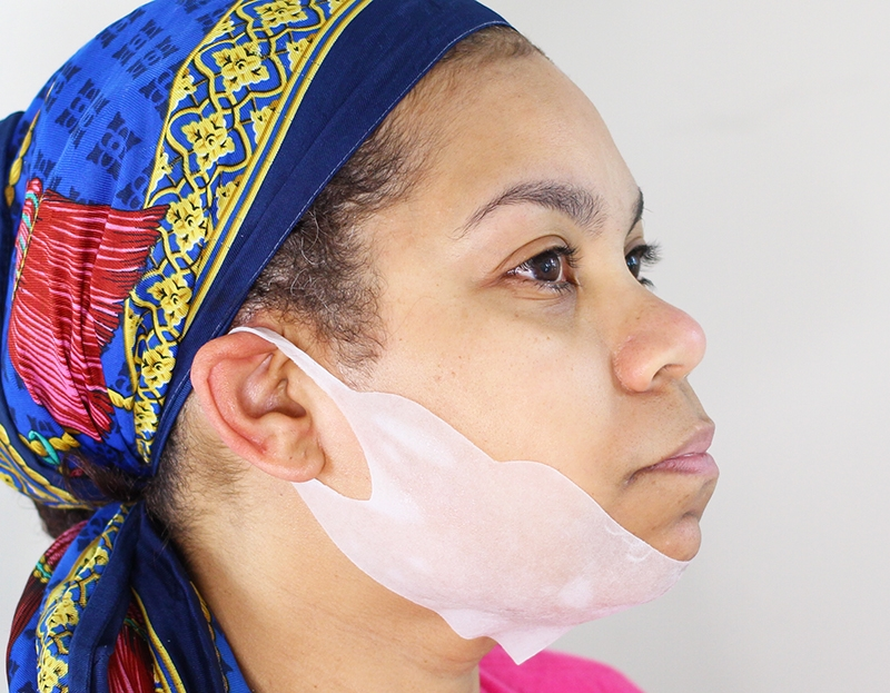 Miss Spa Chin Mask Side View Of the Beauty Treatment