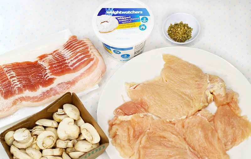 Bacon Wrapped Stuffed Chicken Ingredients