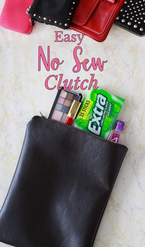 Easy No Sew DIY Clutch Purse Tutorial