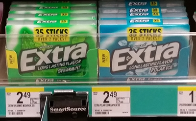 Extra Gum 35-stick packages