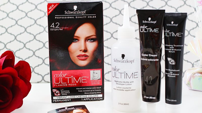 Schwarzkopf Color Ultime Mahogany Red At Home Color Kit