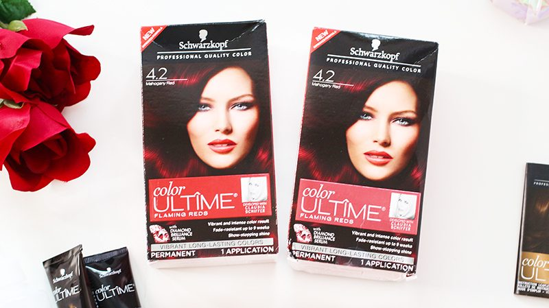 Hair transformation using Schwarzkopf Color Ultime Mahogany Red