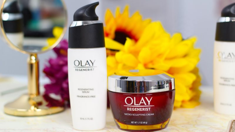 Olay Regenerist Micro-Sculpting Cream and Regenerating Serum